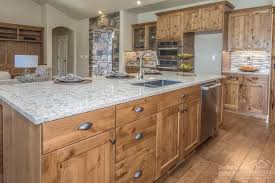hickory cabinets with granite countertops high end finishes including knotty alder cabinets granite
