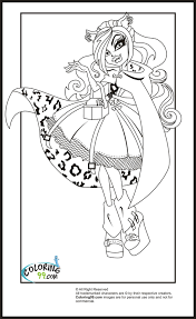 fresh monster high coloring pages clawdeen wolf 45 on coloring