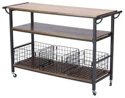 metal kitchen islands lancashire brown wood and metal kitchen cart farmhouse kitchen