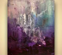 prints painting purple abstract art home decor 7933
