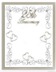 free 25th wedding anniversary invitations 25th wedding