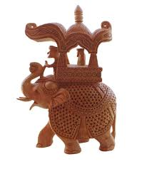 wooden elephant sculpture indian home decorative