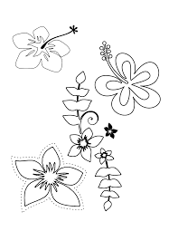 tropical flower coloring pages flower coloring page