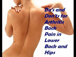 do s and don ts for arthritis back in lower back and hips