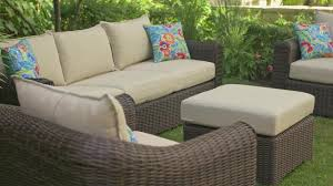conversation set patio furniture canvas salina collection sectional corner patio chair canadian tire