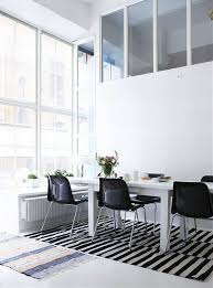 black and white themes contemporary interior design dinning black