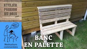 Table De Jardin En Palette De Bois by Realiser Un Salon De Jardin En Palette Un Banc Youtube
