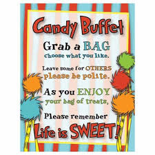 candy buffet signs for christmas u2013 fun for christmas