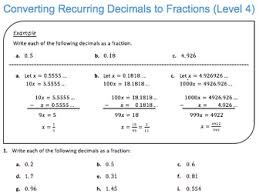 converting recurring decimals to fractions level 4 by jdstrauss