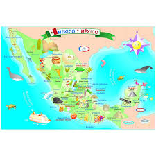 map of mexico with states beautifully illustrated map of mexico teaches all about this great
