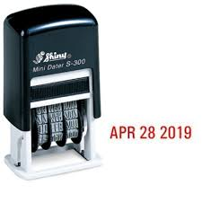 amazon com shiny self inking rubber date stamp s 300 red ink