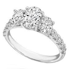 three stone engagement rings oval engagement rings from mdc diamonds nyc