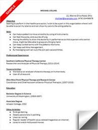 Sample Ot Resume by Physical Therapist Cover Letter Sample Creative Resume Design
