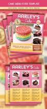 cake menu flyer front page menu research pinterest
