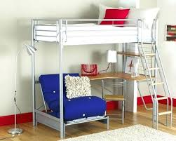 Metal Loft Bed Frame Metal Loft Bed With Desk Underneath Katecaudillo Me