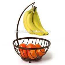 metal fruit basket chrome metal fruit basket with banana holder buy fruit basket