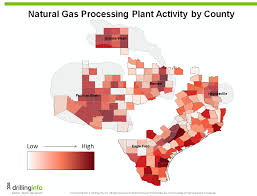 Permian Basin Map Five Years Of Texas Natural Gas Processing Plant Activity