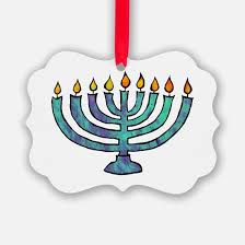 menorah ornament cafepress