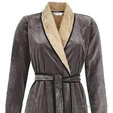 robe de chambre en velours femme robe de chambre femme en velours gris 46 gris b07655cl15
