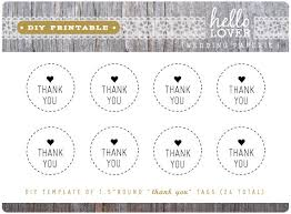 Thank You Tags Wedding Favors Templates by Instant Diy Printable Thank You Tags 1 5 Modern