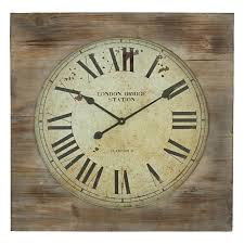 oversized clocks aspire london bridge station distressed medium brown and taupe