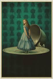 nostalgic vintage movies retro old paper poster alice in
