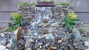 inspiring idea garden waterfall design garden pond waterfall ideas