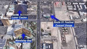 Las Vegas Strip Map Las Vegas Mass Shooting Map Of Las Vegas Strip Shows Locations