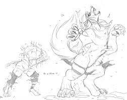 stream sketch werewolf transformation by pyc art fur affinity