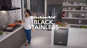 black stainless steel appliances kitchenaid youtube