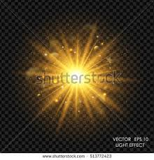 vector gold light effect abstract background stock vector