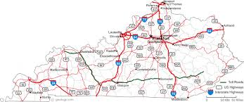 map of ky and surrounding areas map of kentucky