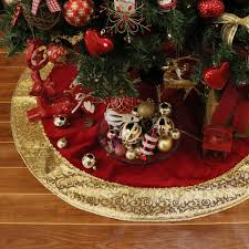 valery madelyn 48 and gold tree skirt with traditional