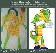 Crocodile Meme - draw this again meme vector the crocodile by gothicraft on deviantart