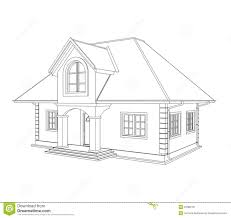 house to draw house technical draw stock illustration illustration of paperwork