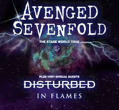 avenged sevenfold u0027disturbed u0026 in flames u0027 metro radio arena