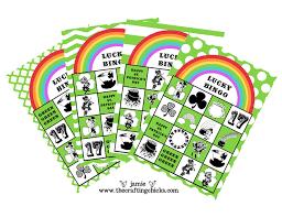 st patrick u0027s day lucky bingo u0026 free printables the crafting