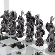 Medieval Dragon Home Decor Medieval Chess Sets Cool Gothic Chess For All Gothicdecor Net