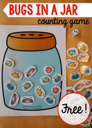 a math game for a preschool insect theme the measured mom