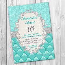 sweet 16 invitation sweet sixteen invitation turquoise and