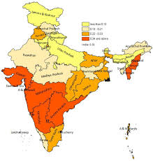 India States Map by Estimate Of Hiv Prevalence And Number Of People Living With Hiv In