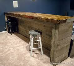 man cave wood pallet bar free diy plans pallets bar and basements