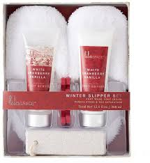 bath gift set lila grace white cranberry vanilla slippers bath gift set bath