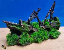 aquarium shipwreck ebay