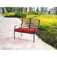 Garden Chair Seat Cushions Mainstays Bryant Meadows 2 Seat Cushion Bench Walmart Com