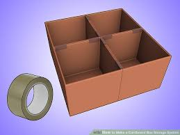 How To Make A Cardboard Desk How To Make A Cardboard Box Storage System 4 Steps