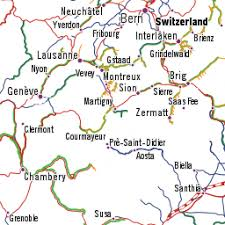 swiss map rail map of switzerland with swiss destinations you can reach by