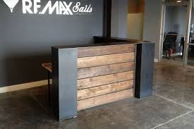 Reception Desk Wood Remax Sails Reception Desk
