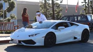 gold and white lamborghini lamborghini gold digger prank