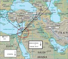 Biblical Map Of The Middle East by Maps Of Israel Interactive Map Gog Magog War